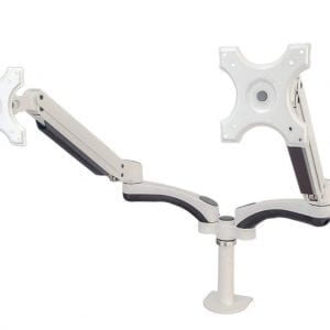 AVA13WD for 2x LCD 1.5-6kg Tilt, Swivel, Rotate White