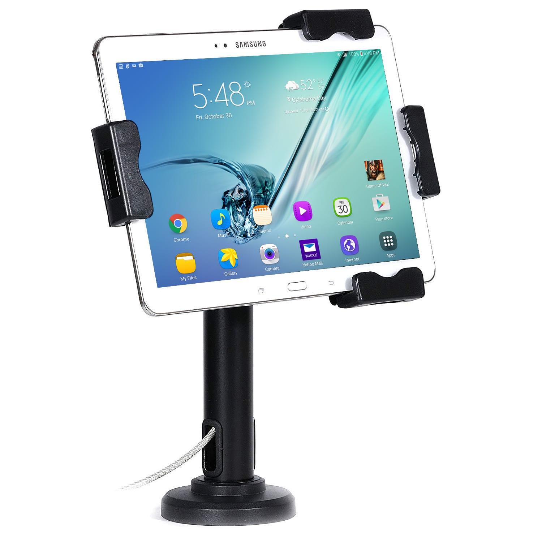 Brateck PAD2102 anti-theft universal tablet stand w/ laptop lock & chain Black
