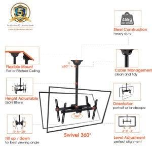 "AVLB102M Telescopic,,Rotate, Tilt, Universal 32""-60"", upto VESA600x400"