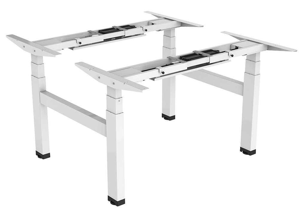 Allcam EDF04QW electric double desk height adjustable work bench frame
