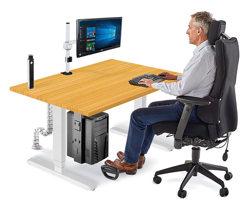 Allcam Ergonomic Office Suite Sit-stand workstation sitting