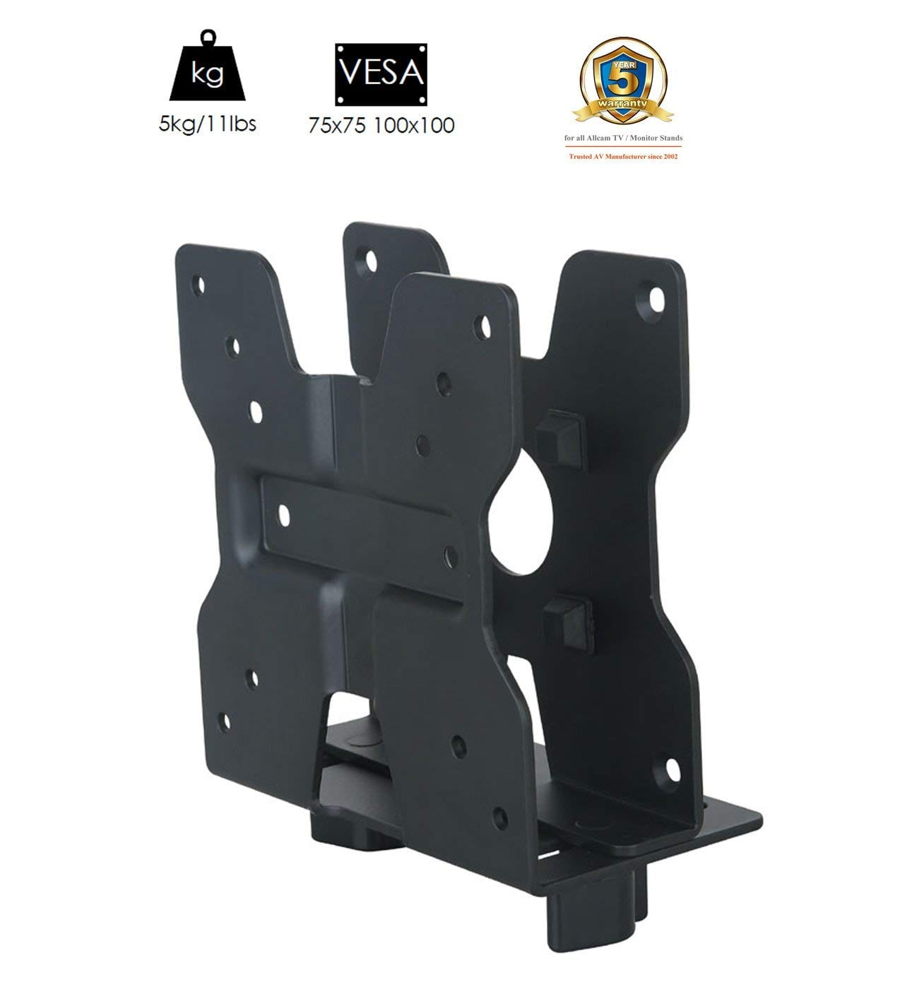 TCM01 Thin Client VESA mount, with Pole Clamp & Under-desk fixing tools