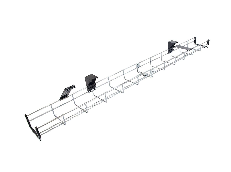 CT40+MT 0.4-meter Under-desk Galvanized Steel Mesh Cable Tray W10 x H5 cm