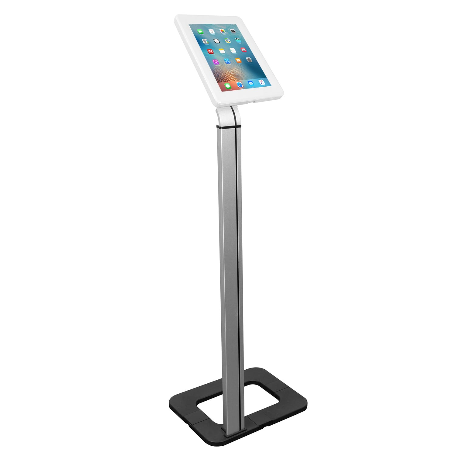 Brateck PAD1205 Anti-theft Universal Tablet Floor Stand Kiosk White