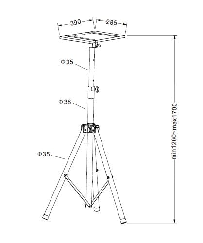 AVET750 Universal Projector Tripod Stand Height 115-180cm Tray