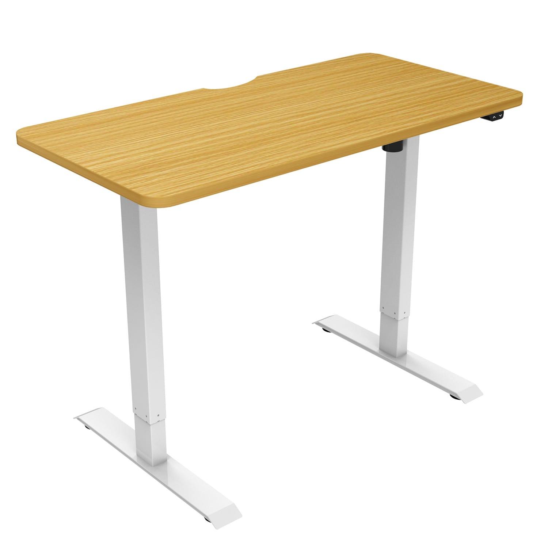 edf21s electric standing desk height adjustable beech