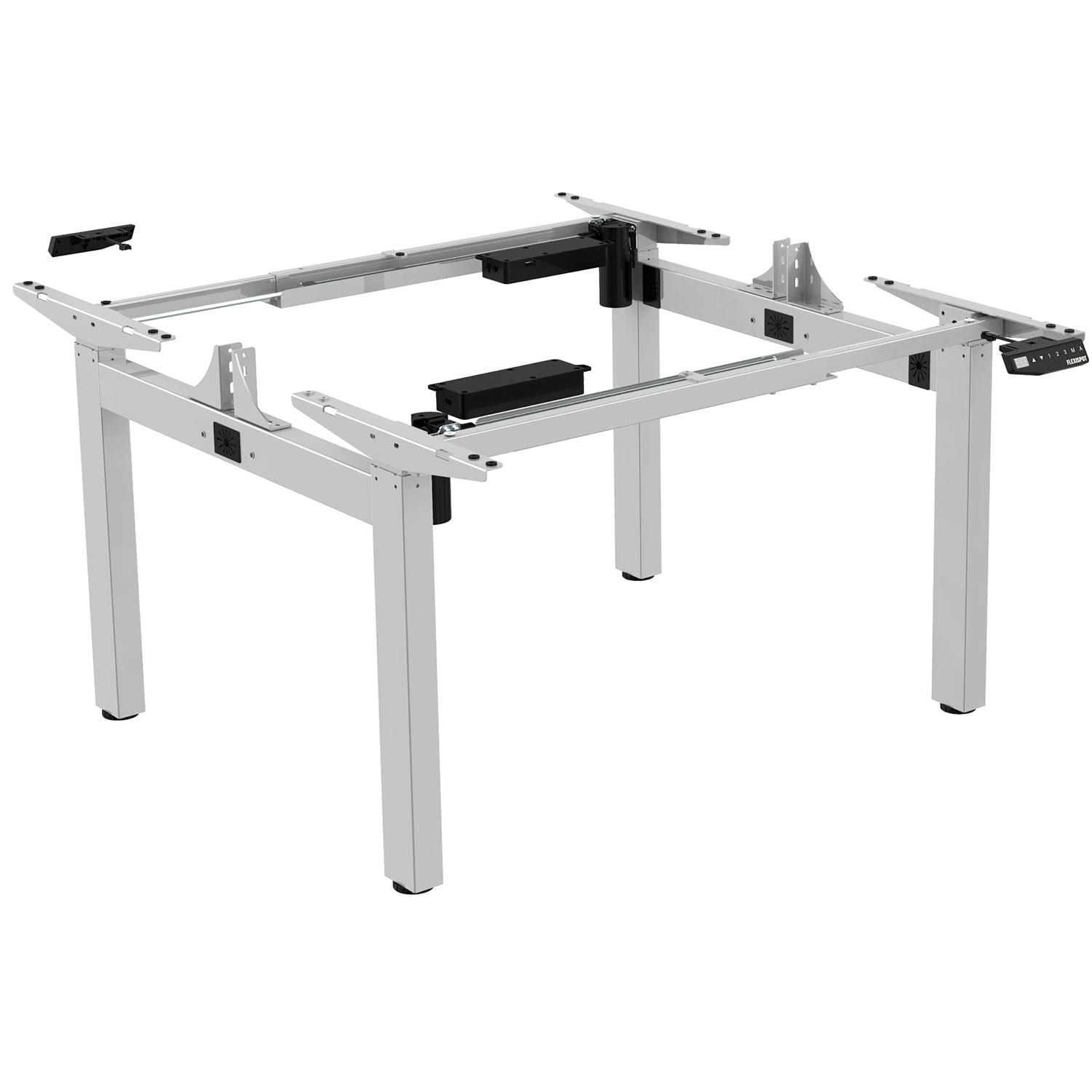 edf24q electric back to back double sit stand desk standing workstation frame only