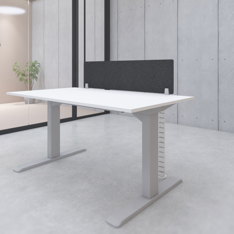 s144b acoustic desk privacy screen divider black