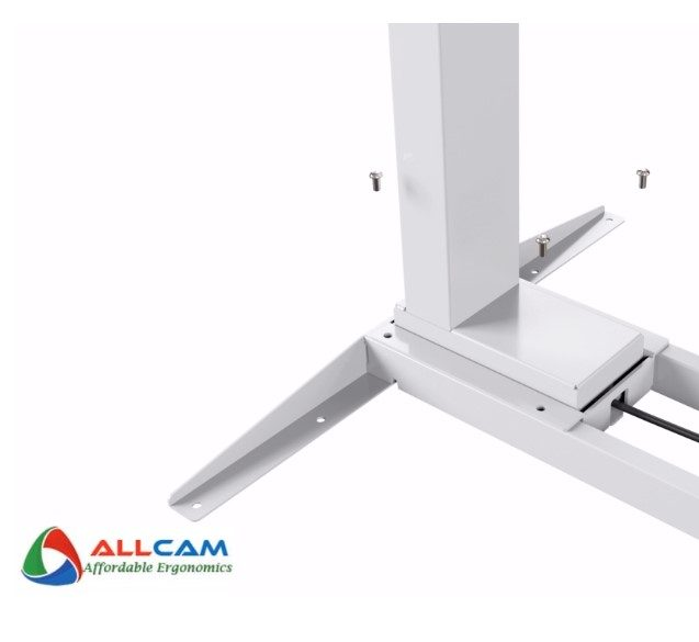 How to assemble the EDF12D Dual-motor Sit-stand Desk Frame?