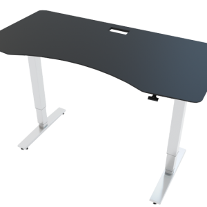 Allcam GDF12W gas spring sit stand desk black top