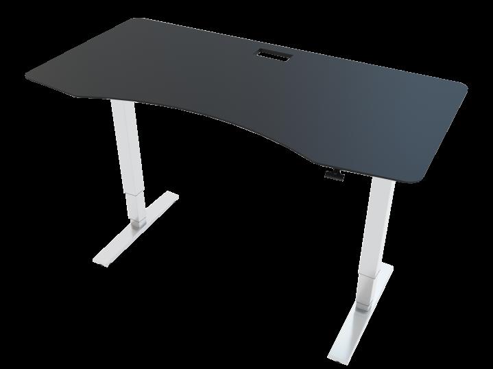 Allcam GDF12W gas spring sit stand desk black top