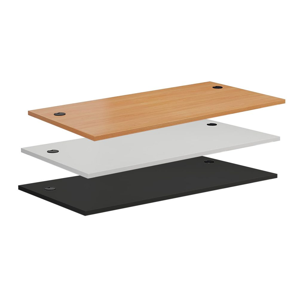 DT148CH Commercial MFC Desk-top 1400x800 mm with Cable Holes for sit-stand desk frames