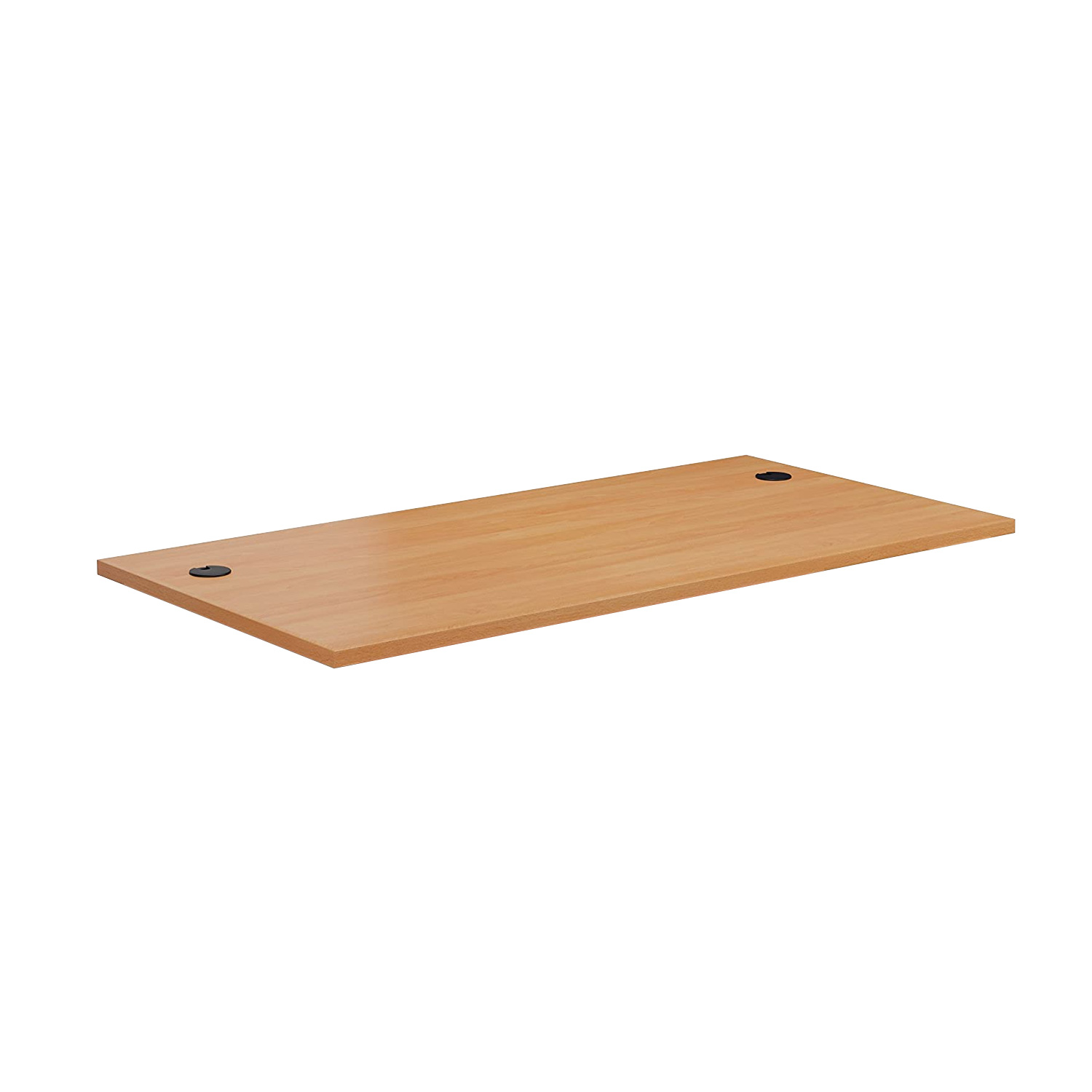 DT148CH8BCH Commercial MFC Desk-top 1400x800 mm with Cable Holes in Beech