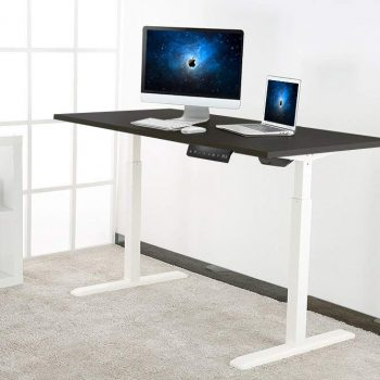 Allcam EDF01A electric height adjustable sit stand desk table how working