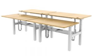 Allcam EDF34Q Electric Height adjustable back to back sit-stand desks