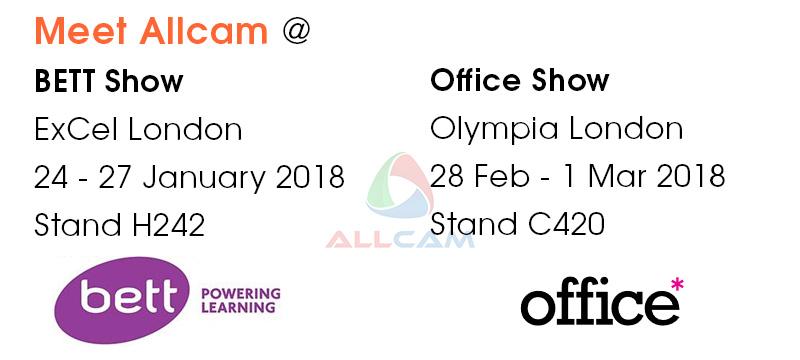 meet Allcam at BETT and Office shows 2018