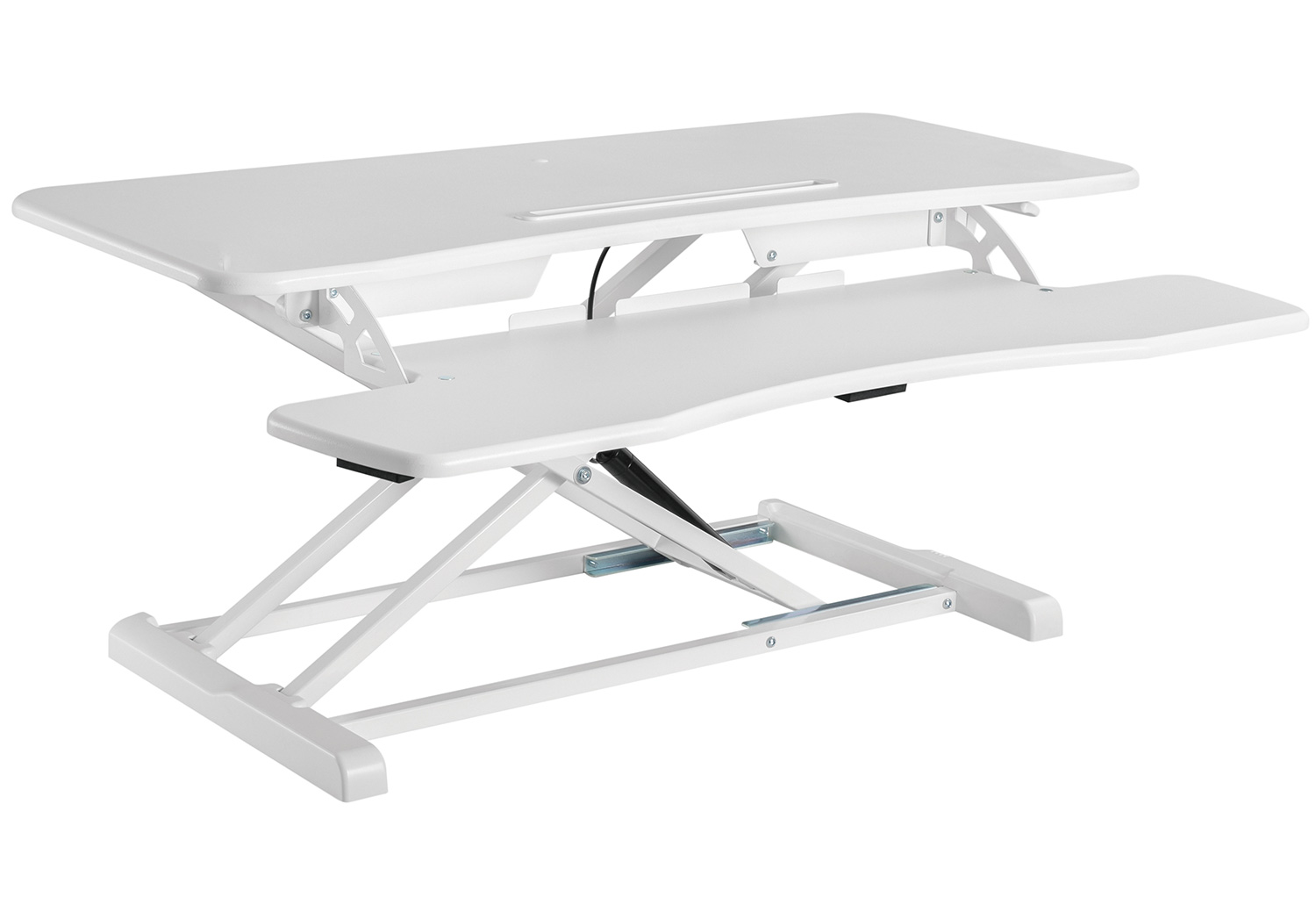 GSS061AW Sit-stand desk converter standing workstation gas spring height adjustable white