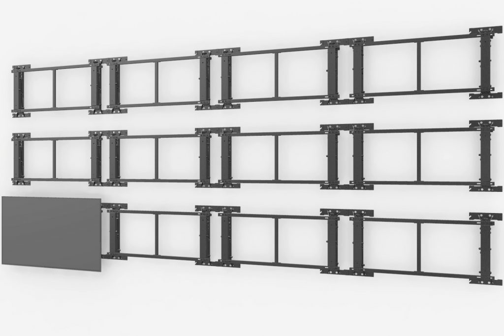 VW64A video wall mount bracket module 3D adjustment 4x3 lcd screens