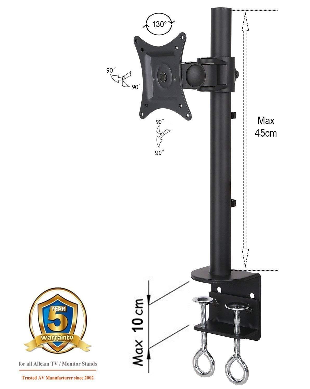 AVM10SG (no arm) for 1x LCD 10kg Tilt, Swivel, Roate, Black