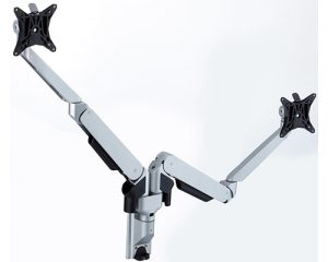 Allcam GSW250Ds gas spring twin led lcd monitor arm stand