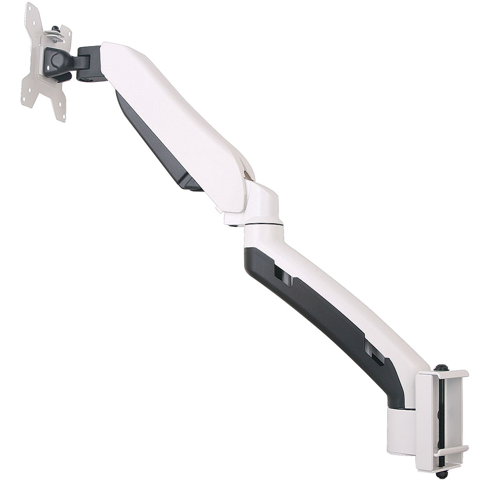 GSA21-TBM Gas spring single LCD monitor arm with Toolbar mount