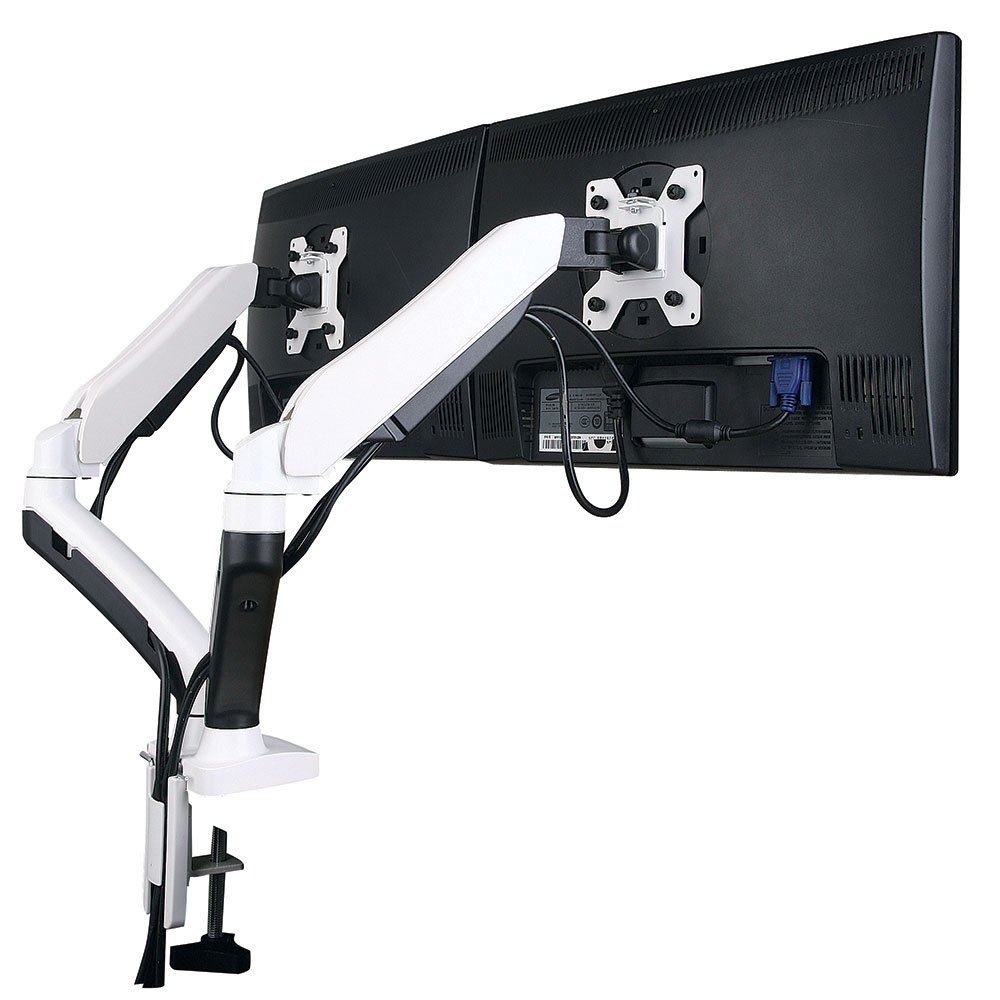 gsa22dd Gas spring twin led/lcd monitor arm