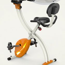 folding exercise bike with tablet laptop tray