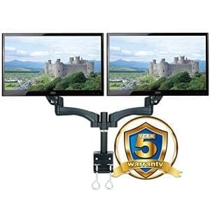 ava12d gas spring double lcd monitor arm stand twin dual