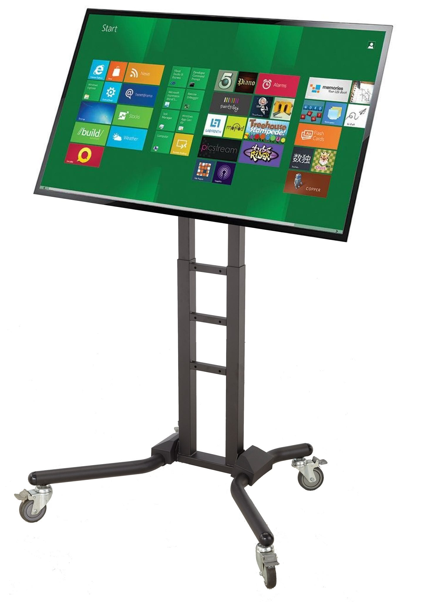 AVF1069 for interactive screens upto VESA 800x800, 120kg, Pole 1.5m, Max height 1.7m