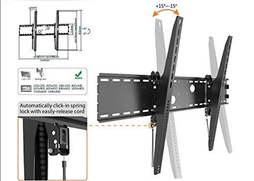 "AVB37XL Tilt ± 15° Universal 60""-120"" upto VESA1000x800, 120kg"