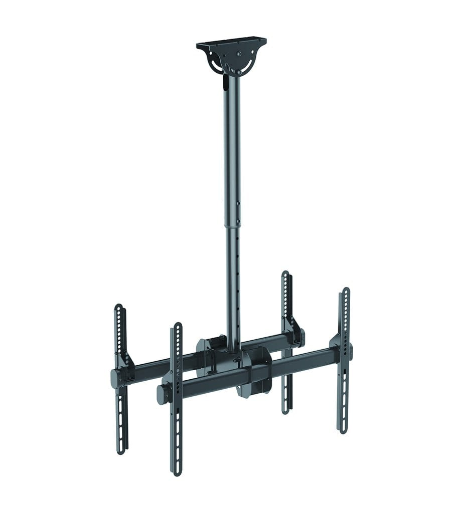Acava Single Or Double Heavy Duty Tv Bracket Ceiling Mount