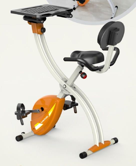F001DBT Home / Office Under-desk Excercis Bike w/ cadence & heart rate sensor, mini bike computer, & removable laptop/tablet tray