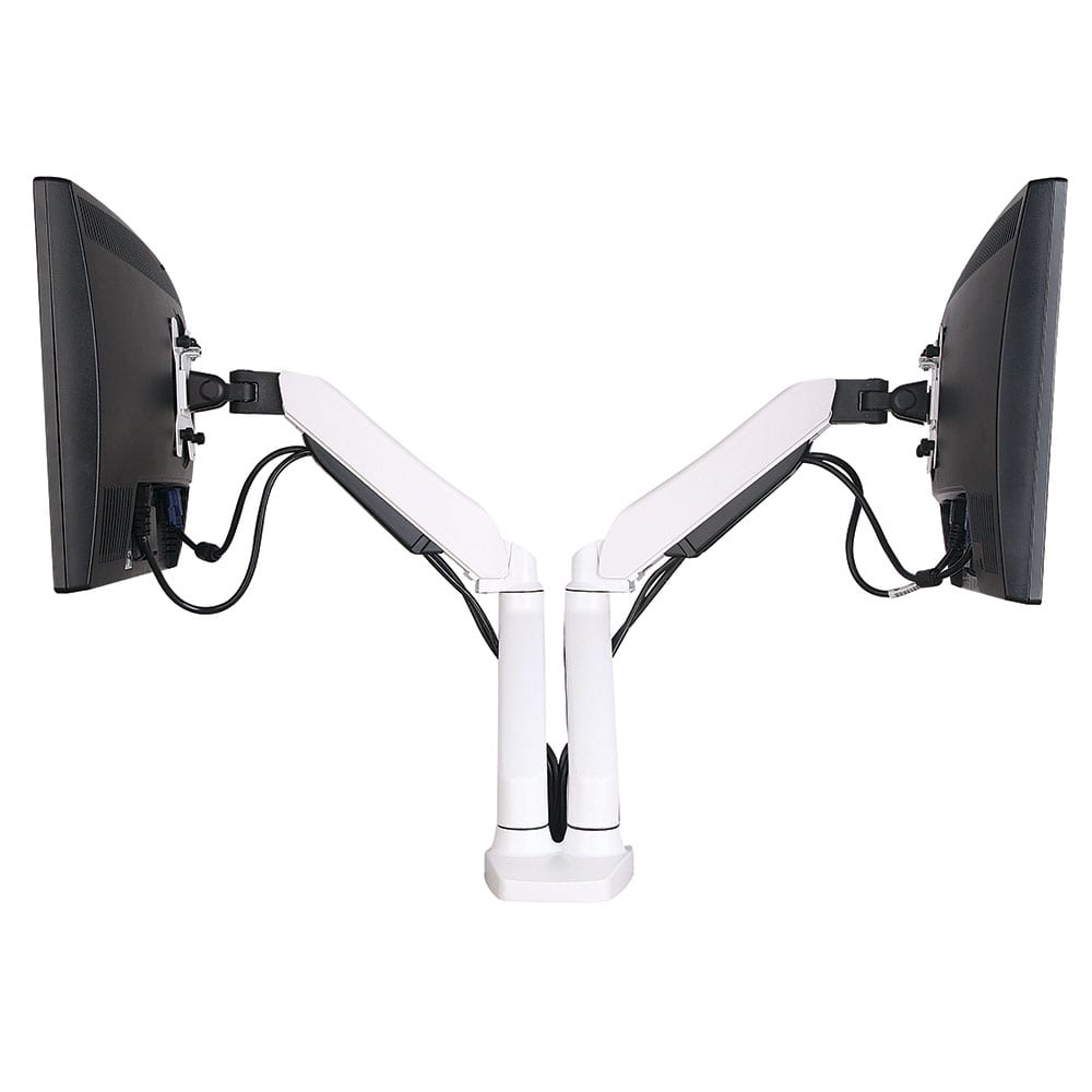 AVA22DD w/ Desk Clamp for 2x LCD 1.5-7kg, Tilt, Swivel, Rotate