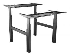 Allcam edf04qw back-to-back electric height adjustable table frame Black