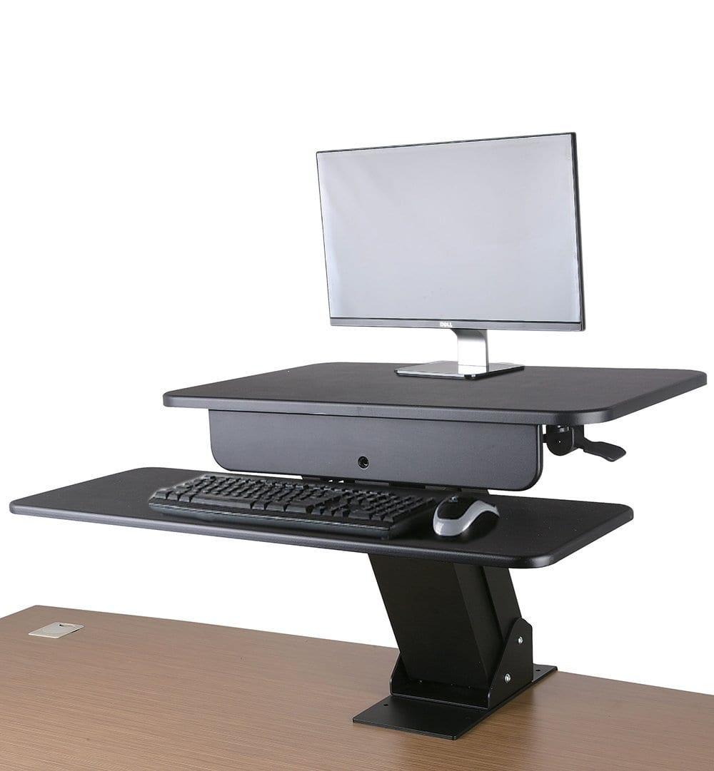 GSS03CLP Gas-spring Sit-Stand Workstation with desk clamp