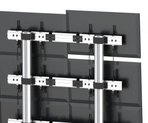 Fvw346t Video Wall Trolley For 3 Monitors 2 15m Tall