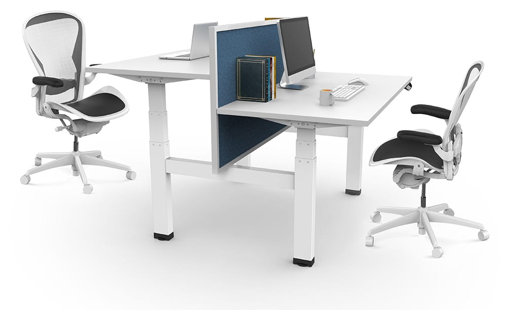 Allcam EDF04Q double electric desk frame whiteAllcam EDF04Q double electric desk frame white