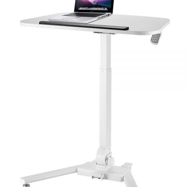 folding height adjustable reception table