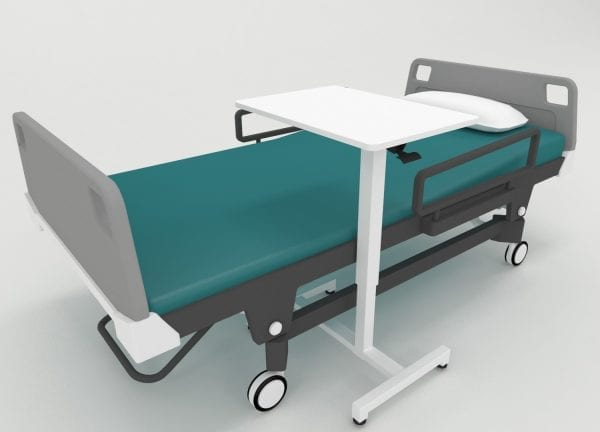GBT05 over-bed table gas spring height adjustable hospital bed