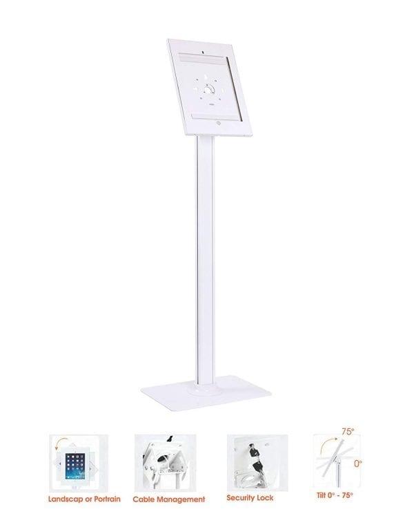 IPP2604L iPad Pro Security Metal Case w/ Lock & Floor Stand