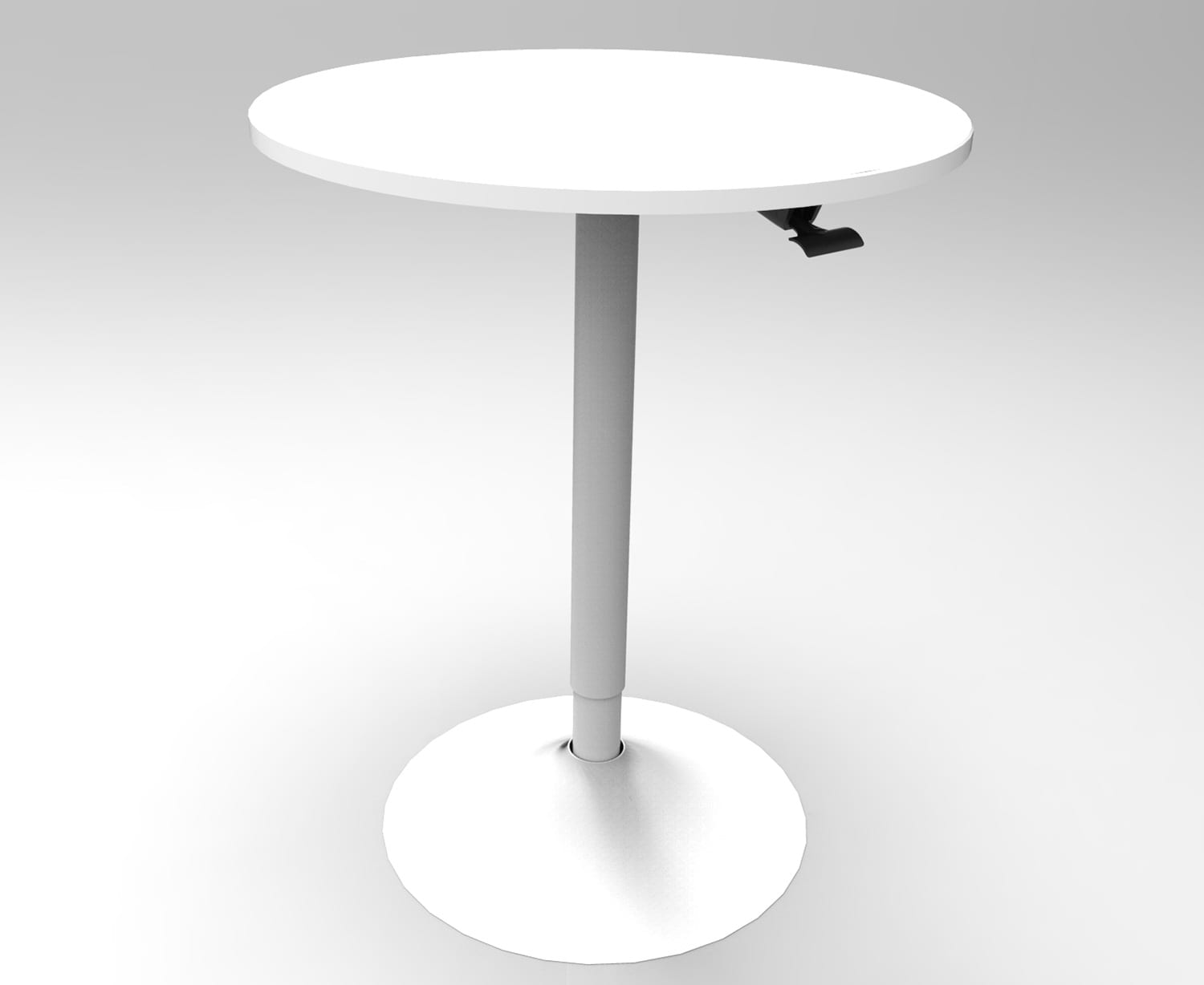 WST50A small round bistro table left view