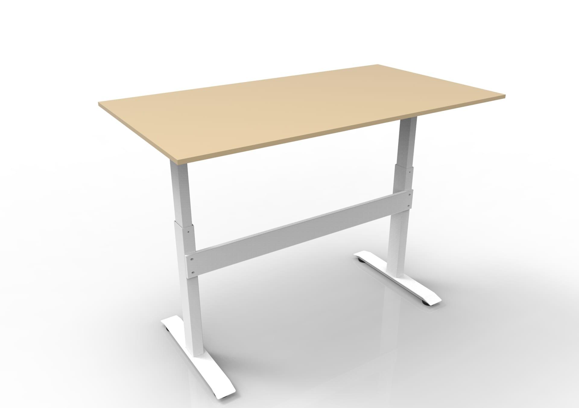 gdf02mw gas spring height adjustable standing desk w/ beige top