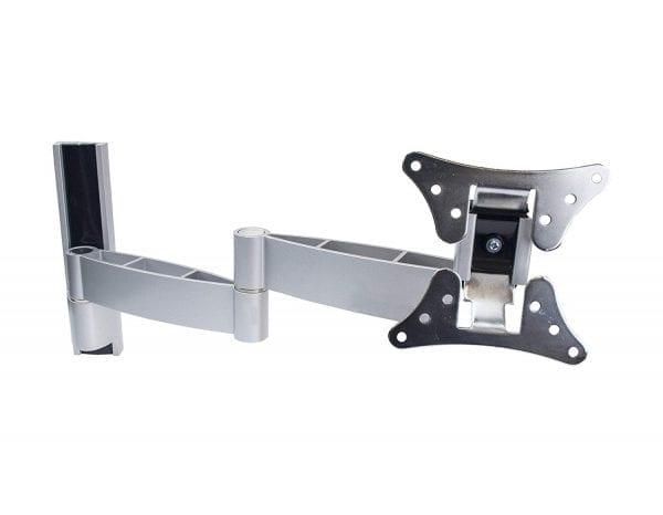 """AVD101 Aluminium Swivel Arm 7-41cm Tilt ±10° for 15""""-26"""", upto VESA100x100, 15kg"""