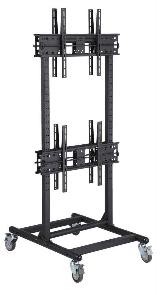 "AVF1046 for 4x LCDs (back-to-back) 37""-65"" up to VESA 800x400, 40kg, 2-meter tall"