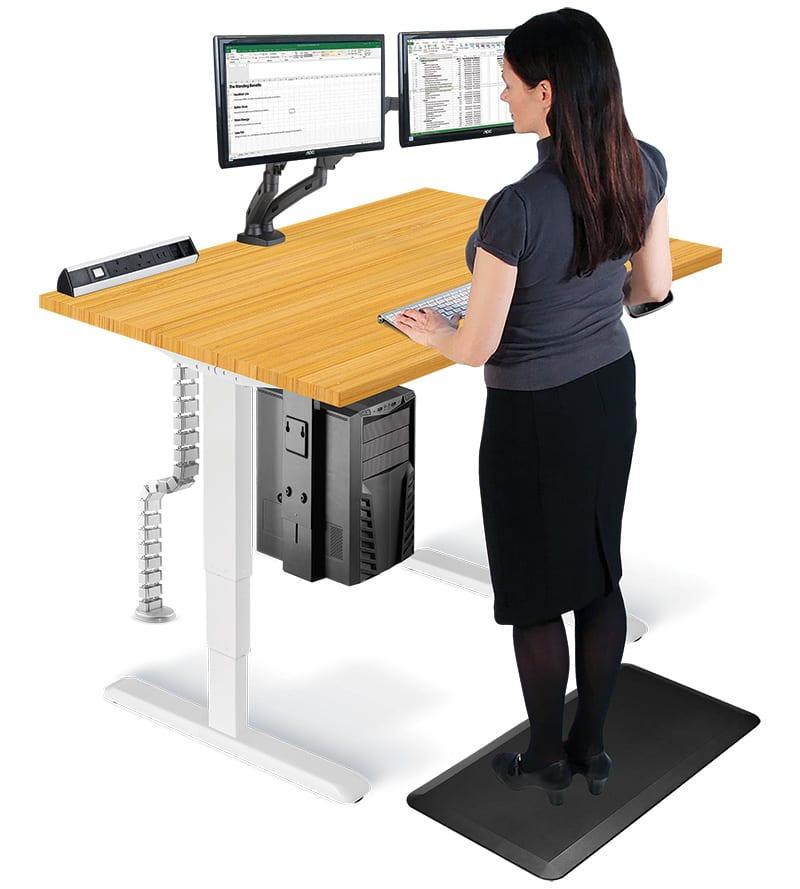Allcam Ergonomic Suites: Sit-Stand Desk / Workstation For