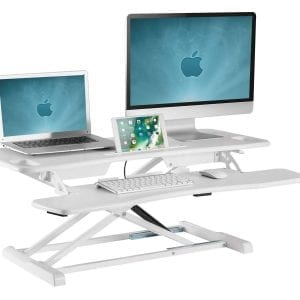 GSS061W Gas-spring Sit-Stand Workstation W 80x D 40x H 50cm