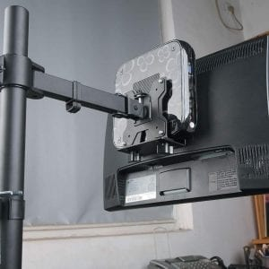 TCM01 Thin Client VESA mount, with Pole Clamp & Under-desk fixing tool