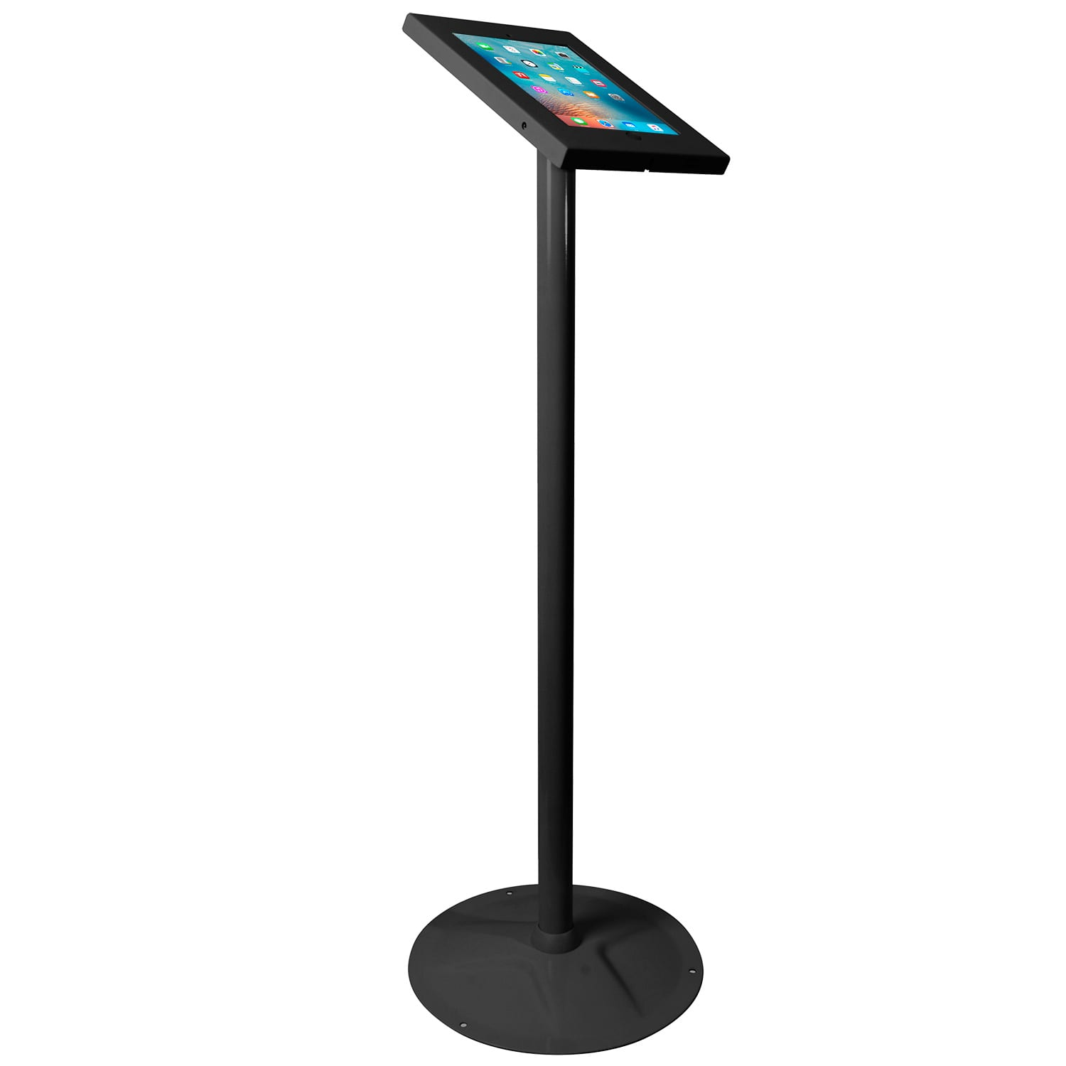 Brateck PAD12-02A Anti-theft iPad Kiosk Floor Stand Black