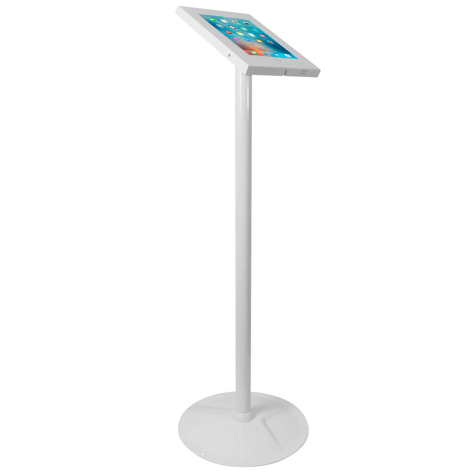 Brateck PAD12-02A Anti-theft iPad Kiosk Floor Stand White