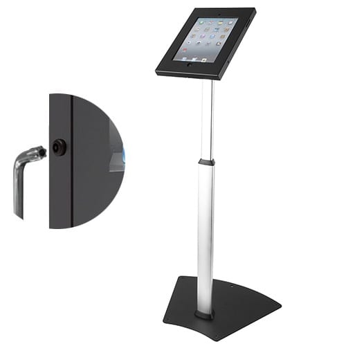Brateck PAD12-05A anti-theft ipad kiosk floor stand security feature